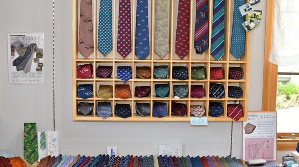 ネクタイの種類も様々...