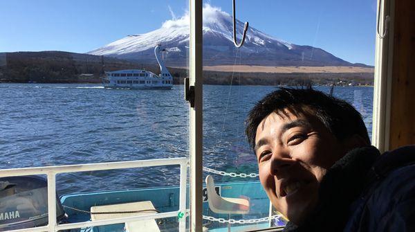 ◎富士山とスワン遊覧船と