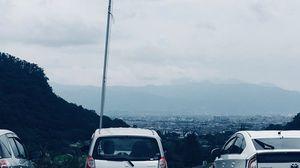 駐車場から甲府盆地が眺められて眺望GOOD!