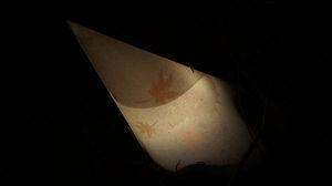 和紙で作られた灯り