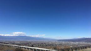 南アルプス、八ヶ岳を背景に甲府盆地が見れる穴場スポット!!?